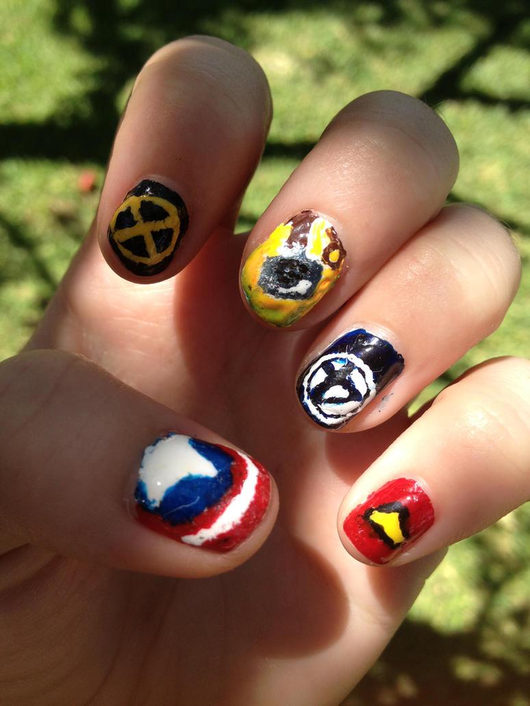 Marvel Nails by TheCivilizedRogue on DeviantArt