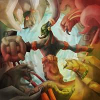 Chac y los Cuatro Rumbos by BalamTzibtah