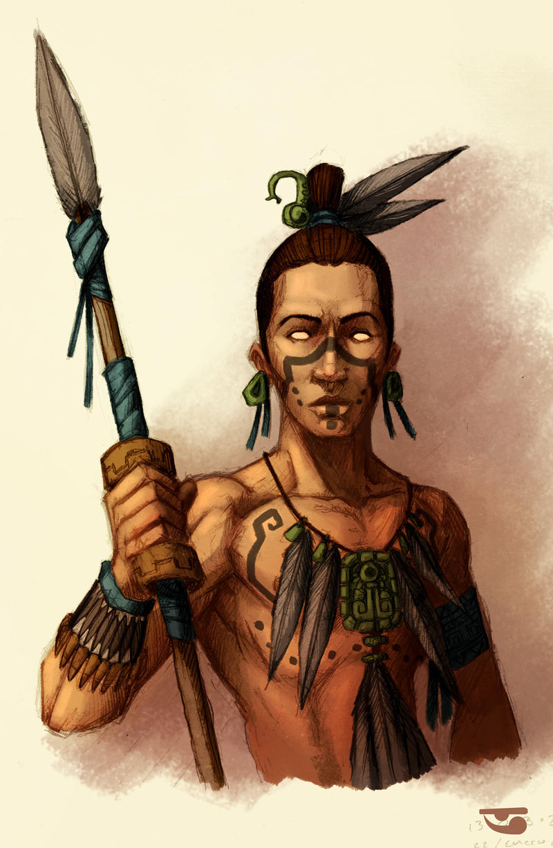 Warrior with spear