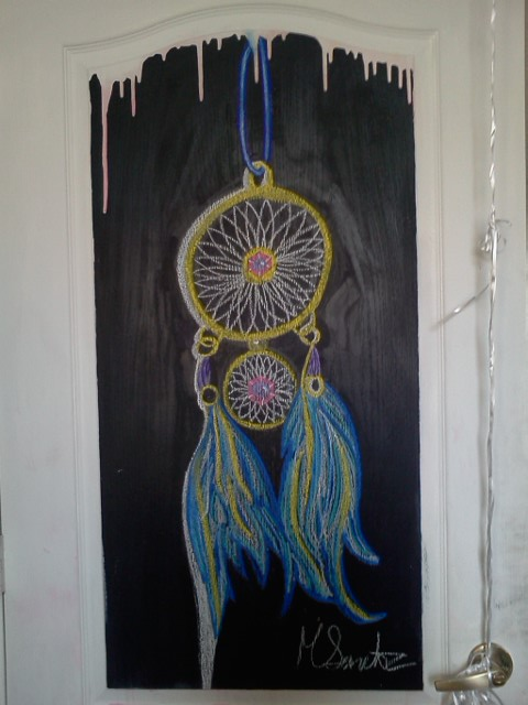 Dreamcatcher (Chalkboard Door) by meligabidino ... & Dreamcatcher (Chalkboard Door) by meligabidino on DeviantArt