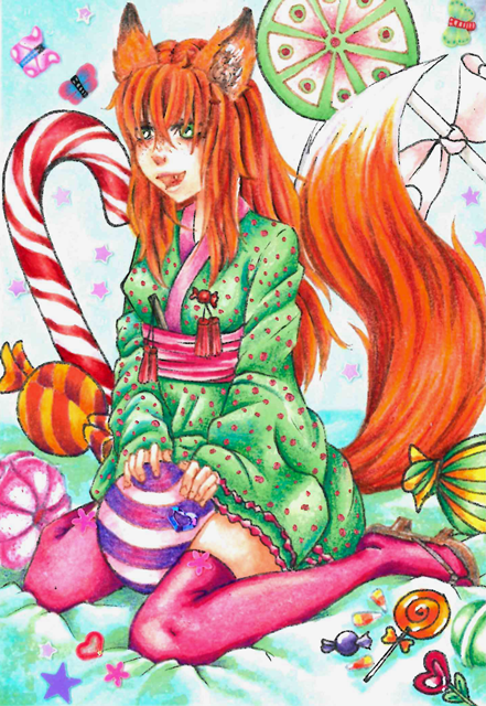 #63 ACEO Sugar Fox by Miyavj