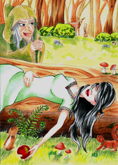 #64 ACEO Snow white by Miyavj