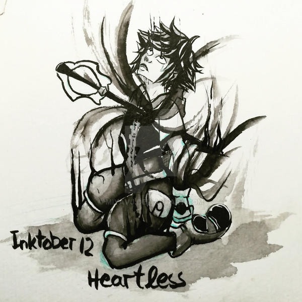 Inktober2017 No.12 Heartless by Miyavj