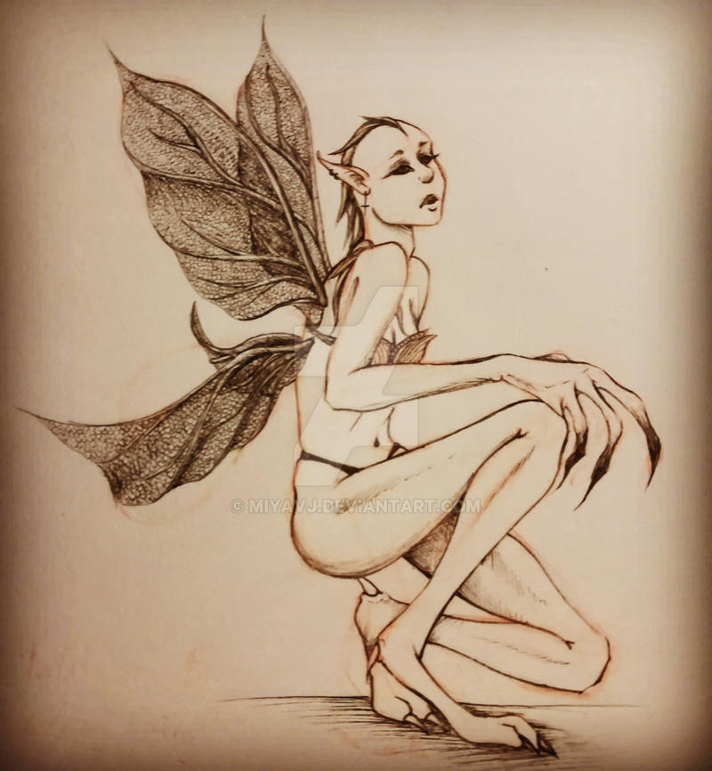 Inktober2017 No.17 Fairy by Miyavj