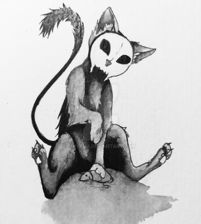 Inktober2017 No.18 Cat by Miyavj