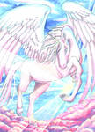 #96 ACEO Into Heaven by Miyavj