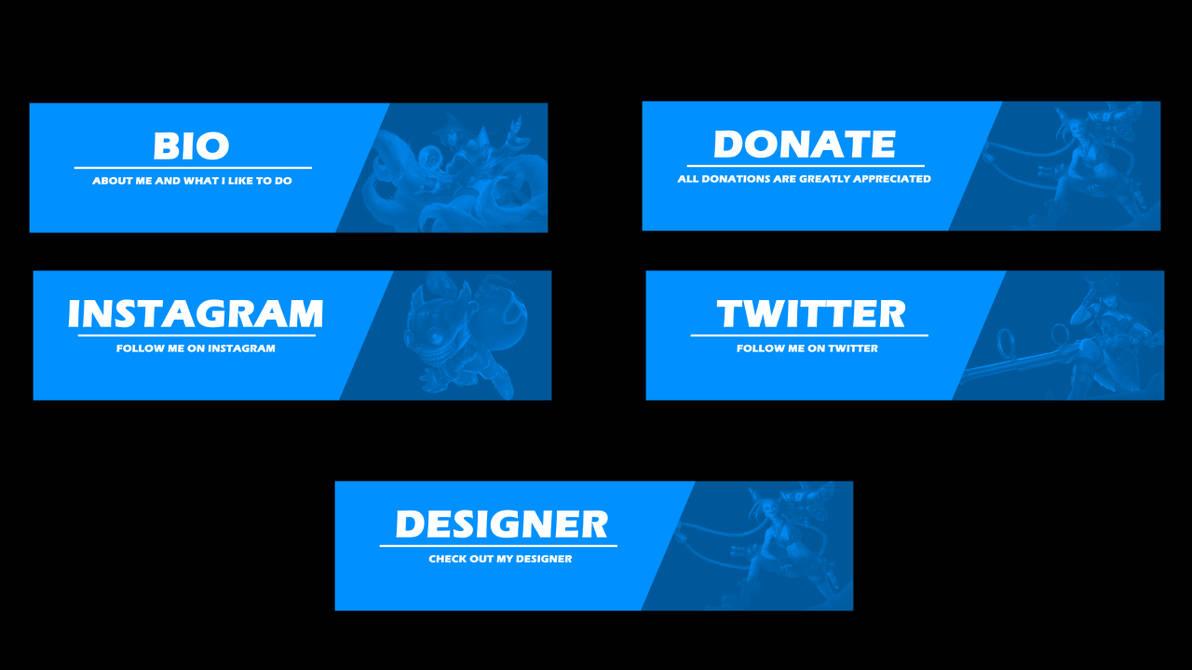 4 Basic Twitch Panels by wiitykev on DeviantArt