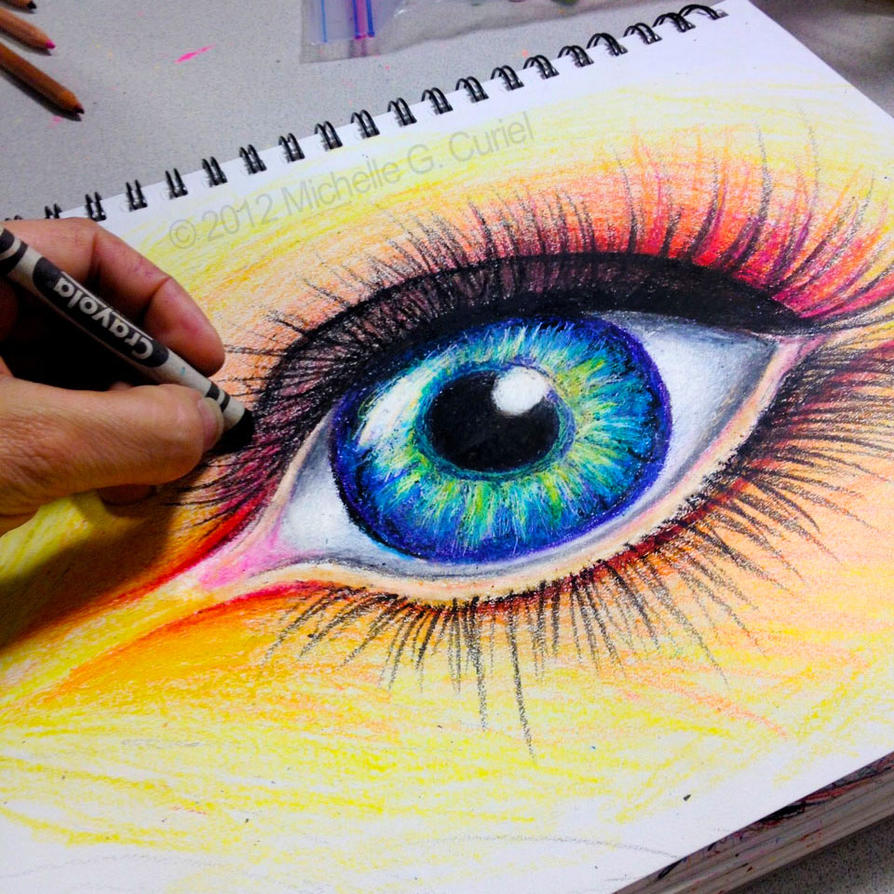 Eye Drawing: 1000+ Images About Crayon (wax Pastel) Drawing On