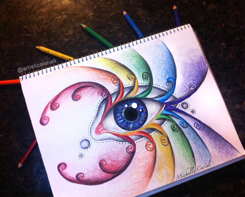 Rainbow eyes by artisticalshell on DeviantArt