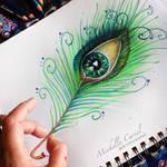 Peacock Eye Drawing
