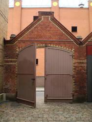 Brick gate by Luna2-stock