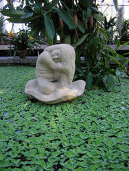 Indoor pond statue by Luna2-stock
