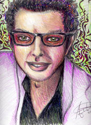 Jeff Goldblum Purple and Green by prettypolkadot