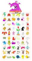 Monster Pets - 61 Monsters by Rawrik