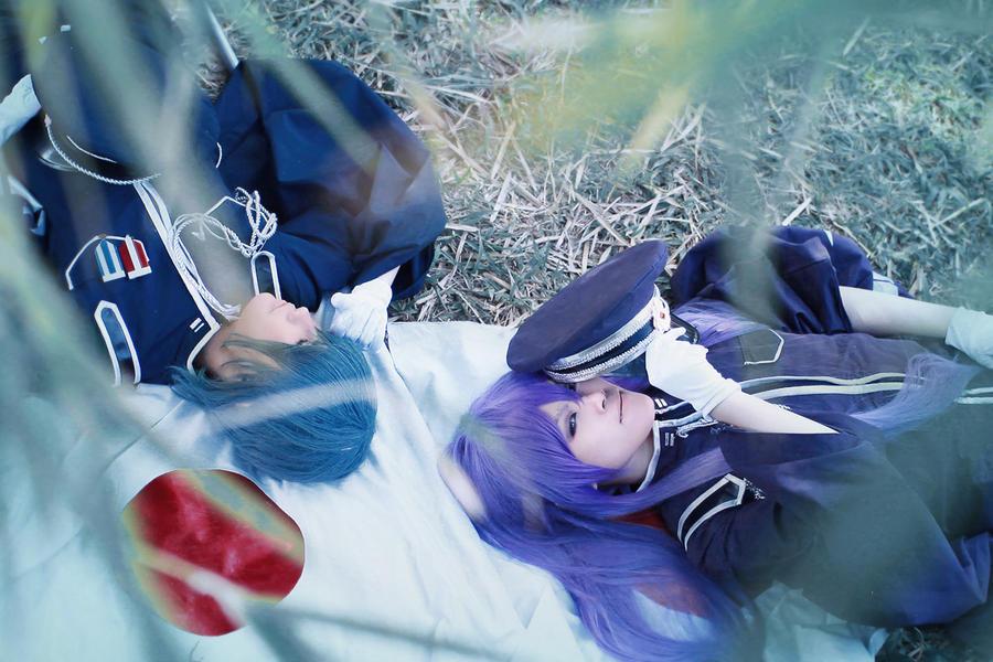 Gakupo ws Kaito :Senbonzakura: by Silverx1307