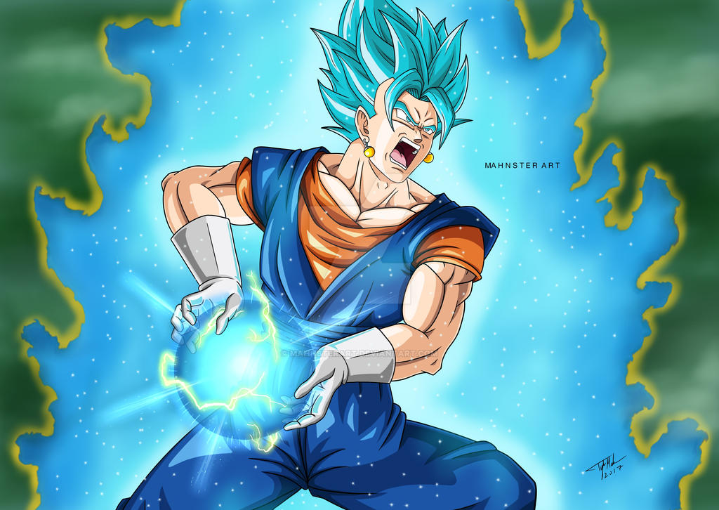 Vegito Super Saiyan Blue Final Kamehameha by MahnsterArt ...