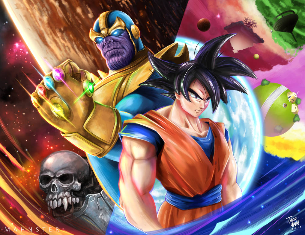 Goku Vs Thanos: Goku Vs Thanos! By MahnsterArt On DeviantArt