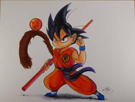 Kid Goku Arteza Brush Pens
