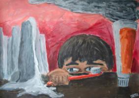 Toothbrush Kid by mazurada