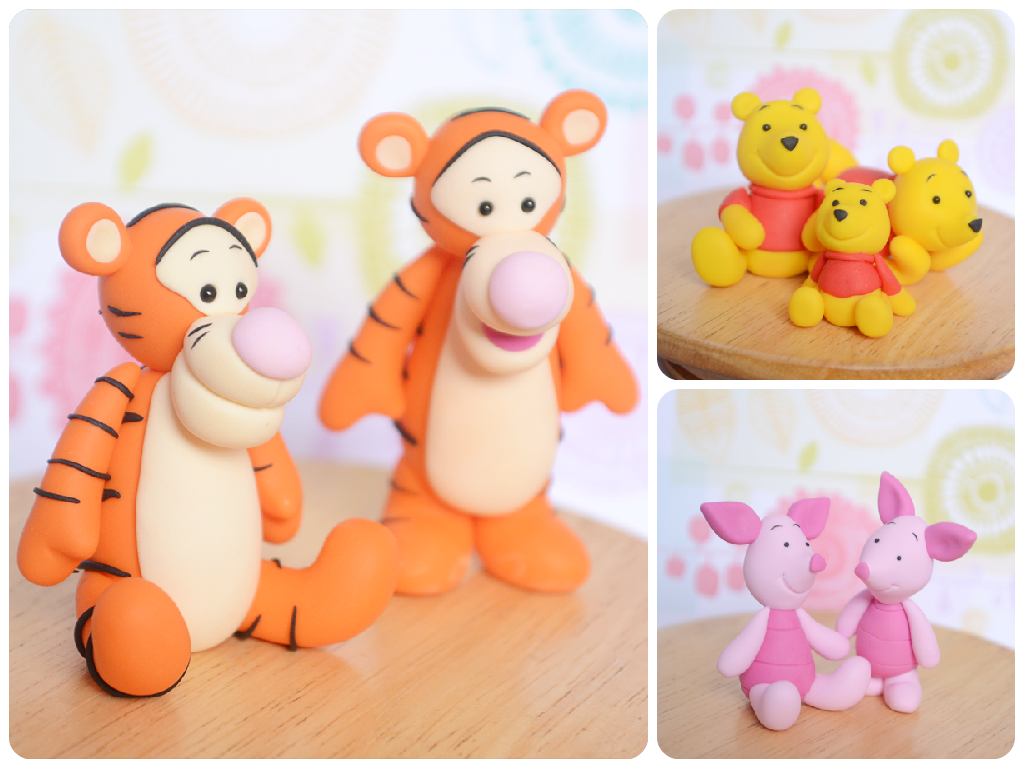 Handmade Polymer Clay Pooh Bear and Friends by TheLinnypig