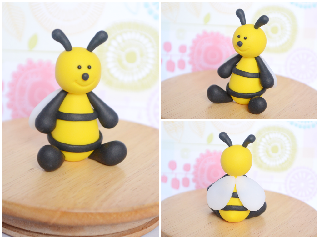 Polymer Clay Bee Cake Topper Sculpture By TheLinnypig
