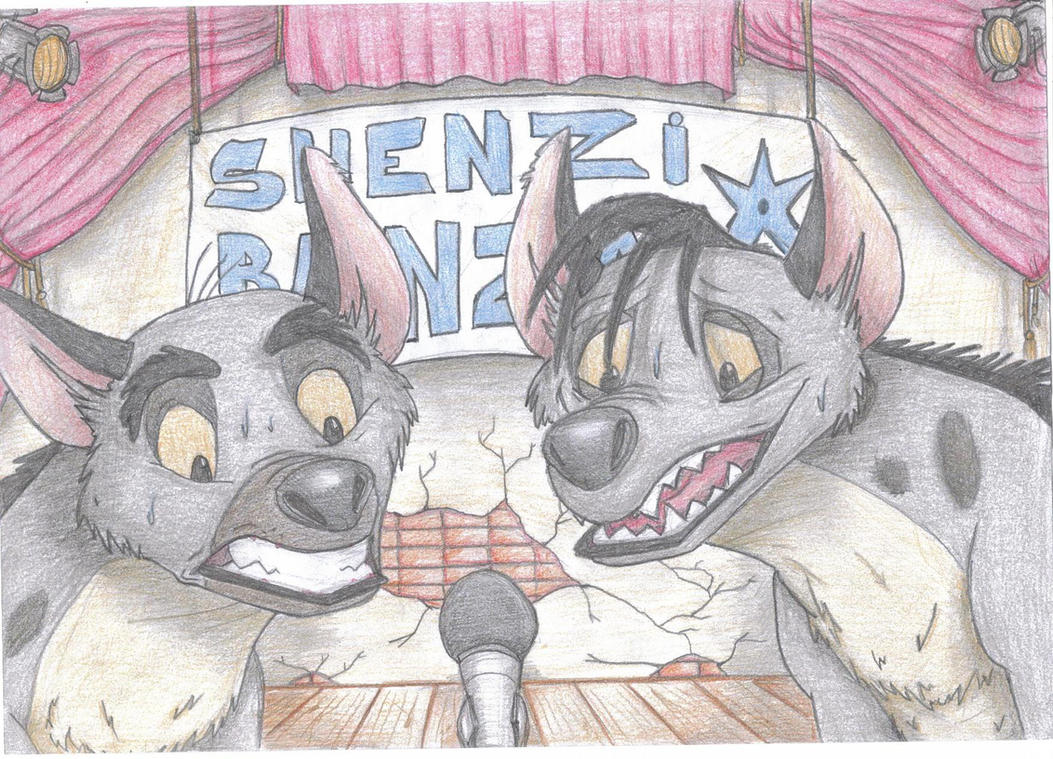 Shenzi and Banzai: What? We shall sing? :) by TheHyenaintown