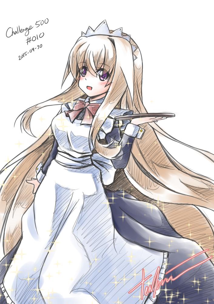 Challenge 500 RE#010 Sisaka-chan in Maid Costume by tenkaminari