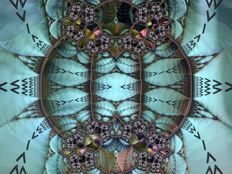 A Fractal with Muted Structures
