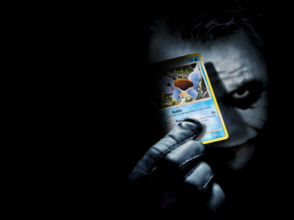 the joker with squirtle card by wildportal43 on deviantart