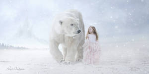 little Princess with polar bears