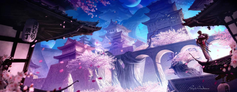 Sakura Castle by panjoool