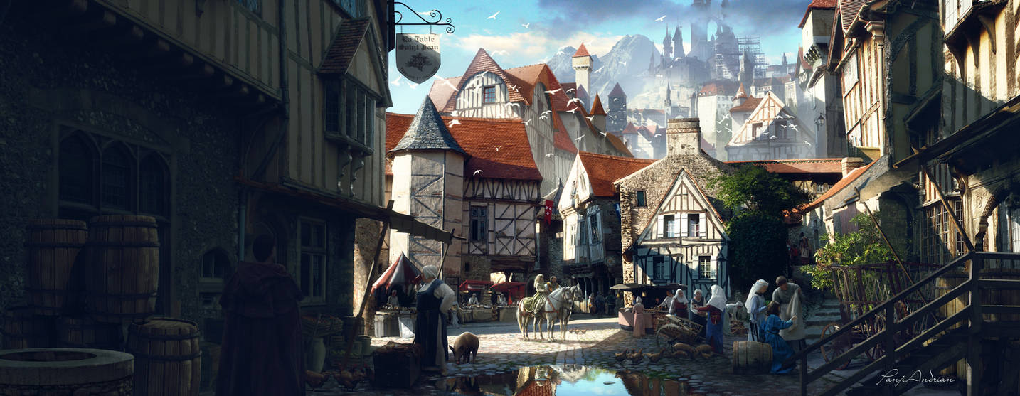 Medieval morning by panjoool