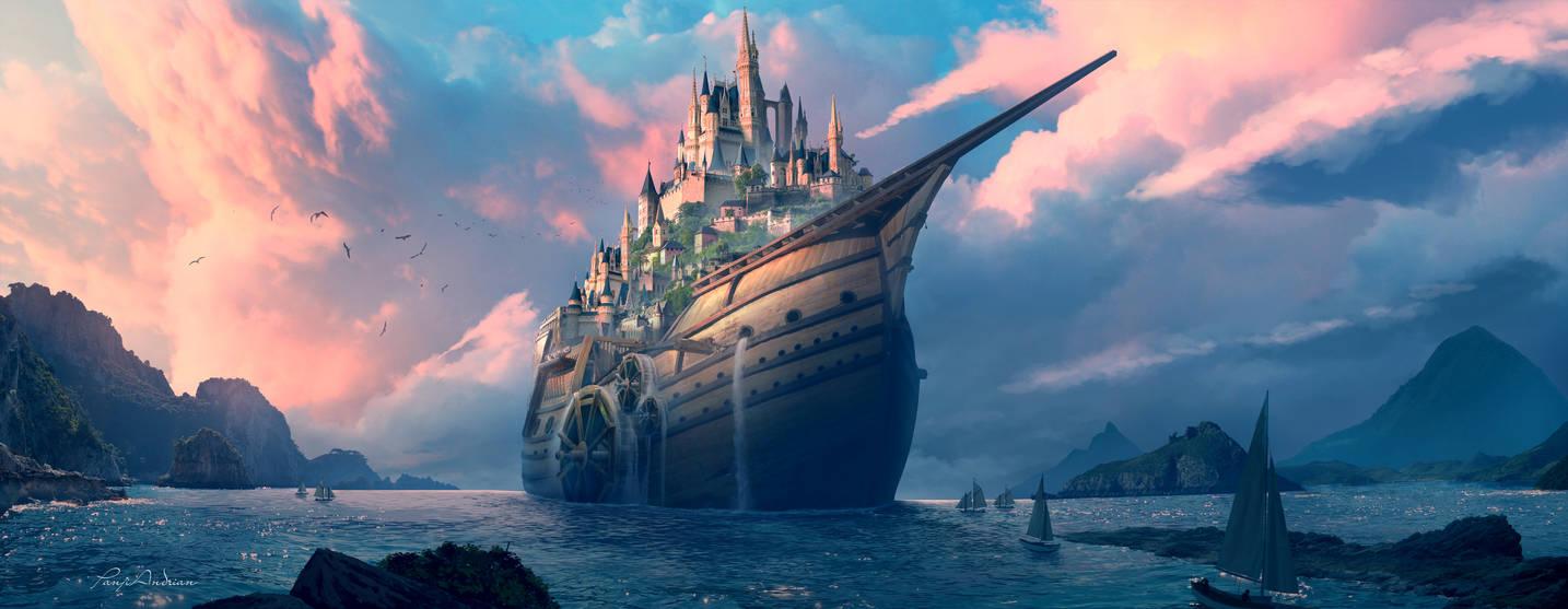 Navio do castelo by panjoool