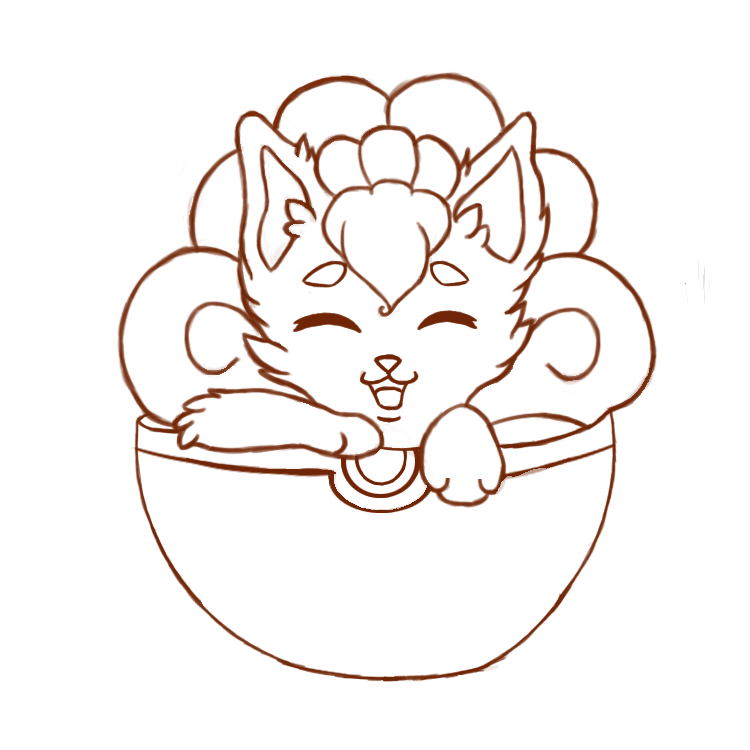 Art Line Use : Vulpix lineart free to use by fluffahluff on deviantart