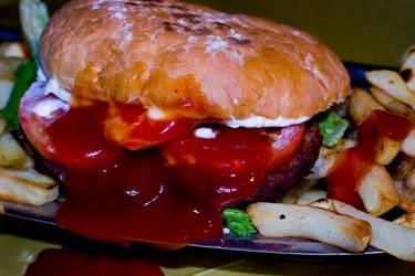 dead hamburger