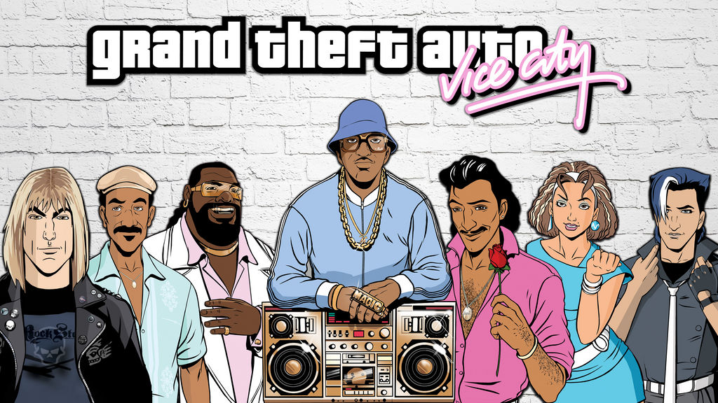 Grand Theft Auto Vice City Dj S Wallpaper 4k By 7works On