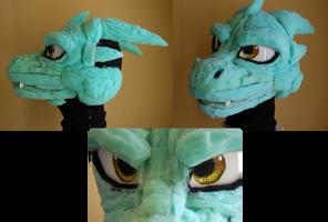 Dragon Fursuit head WIP by CowSprite