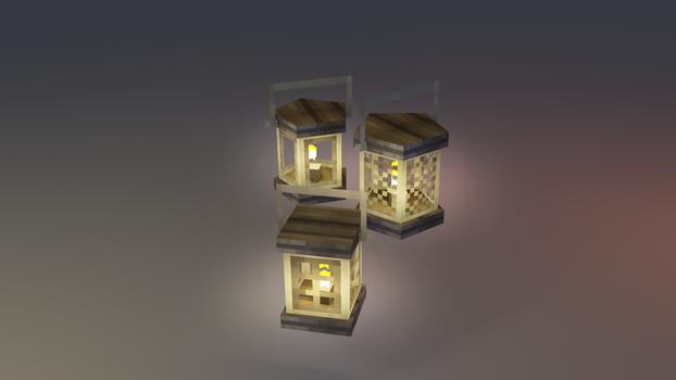 Low poly lantern