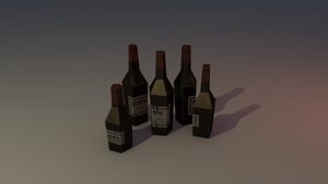 Low poly bottles by lithium-sound