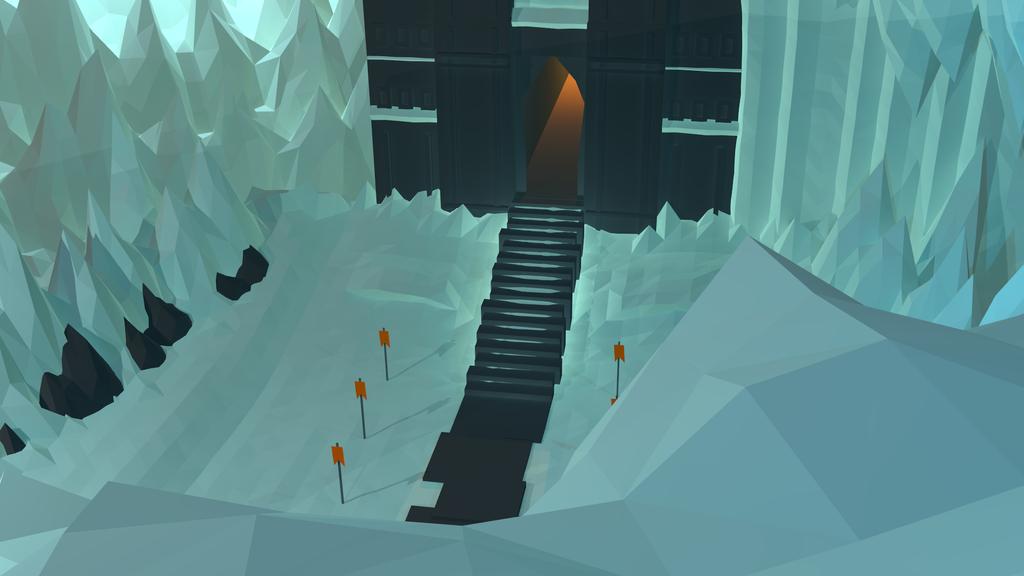 Low poly Landscape (Glacial Castle) by lithium-sound