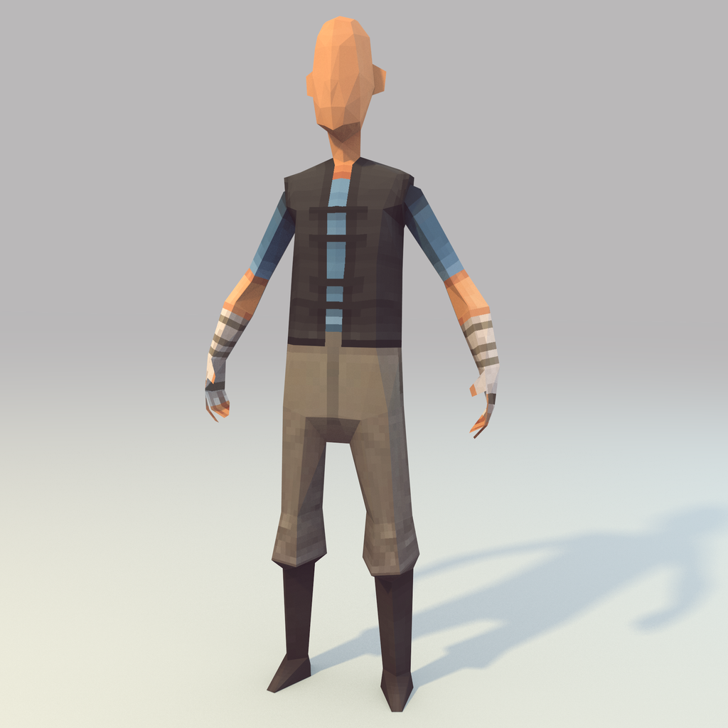 Low Poly Character Modeling Blender : Lowpoly hero wip by lithium sound on deviantart