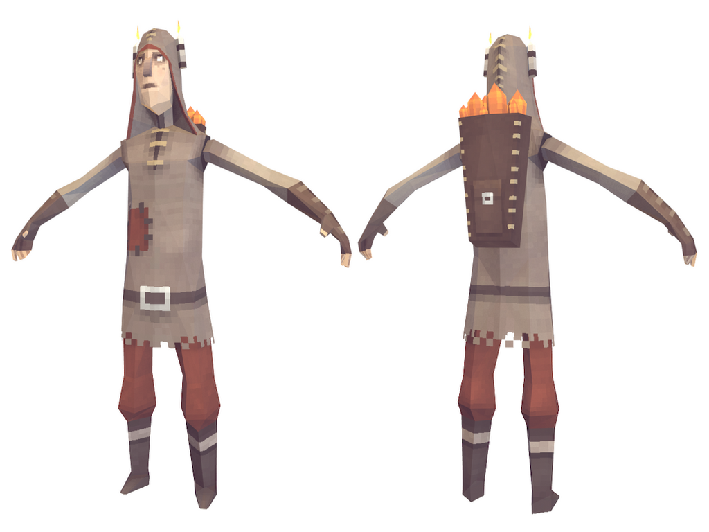 Lowpoly Miner by lithium-sound