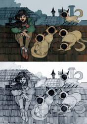 Neighbourhood Cats by Spaska