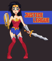 JUSTICE LEAGUE ACTION - Wonder Woman- by eoqudtkdl