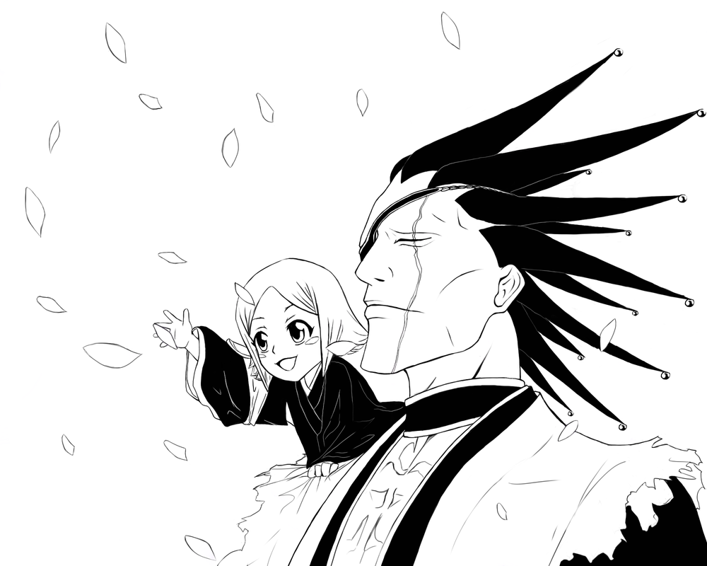 BLEACH Kenpachi And Yachiru Line Art By 26STALKER86