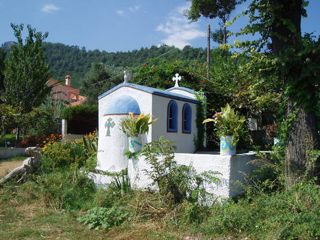 Small Chapel at Kinira beach, Thasos, Greece