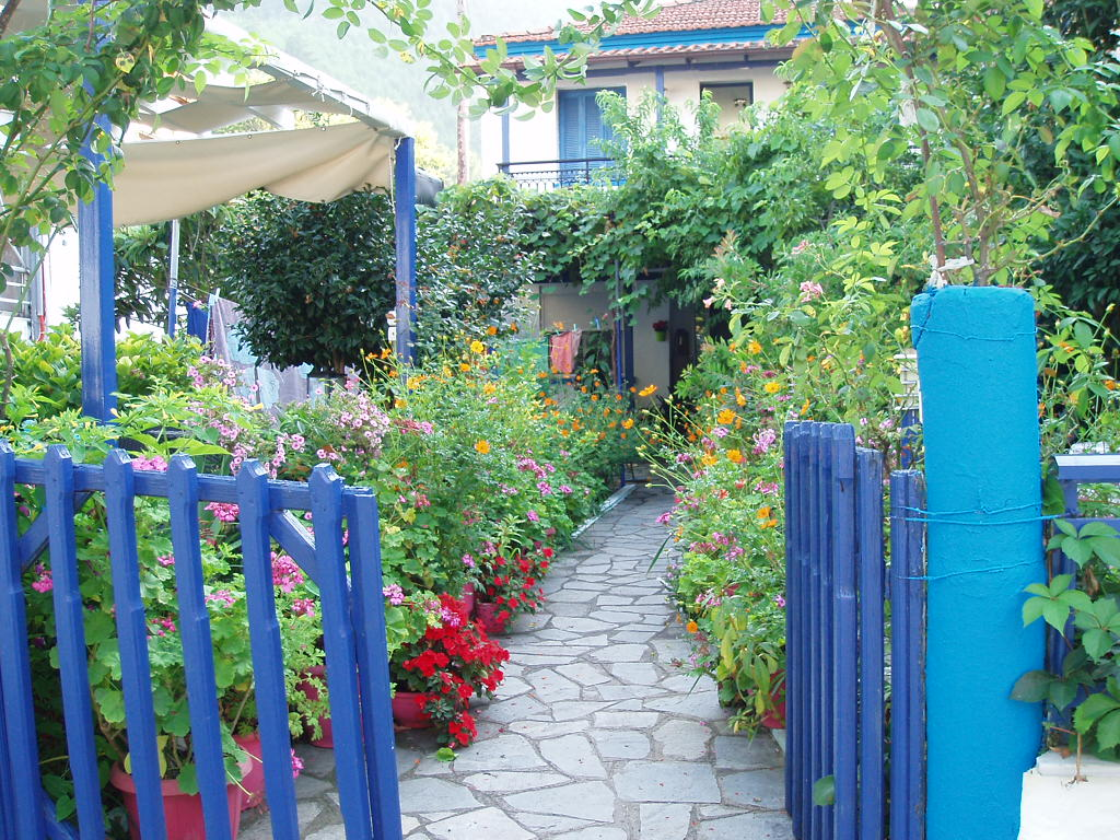 Typical garden in Sk. Potamia, Thasos, Greece by kate44
