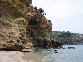 Rocks of Livadi beach, Thasos, Greece 2014