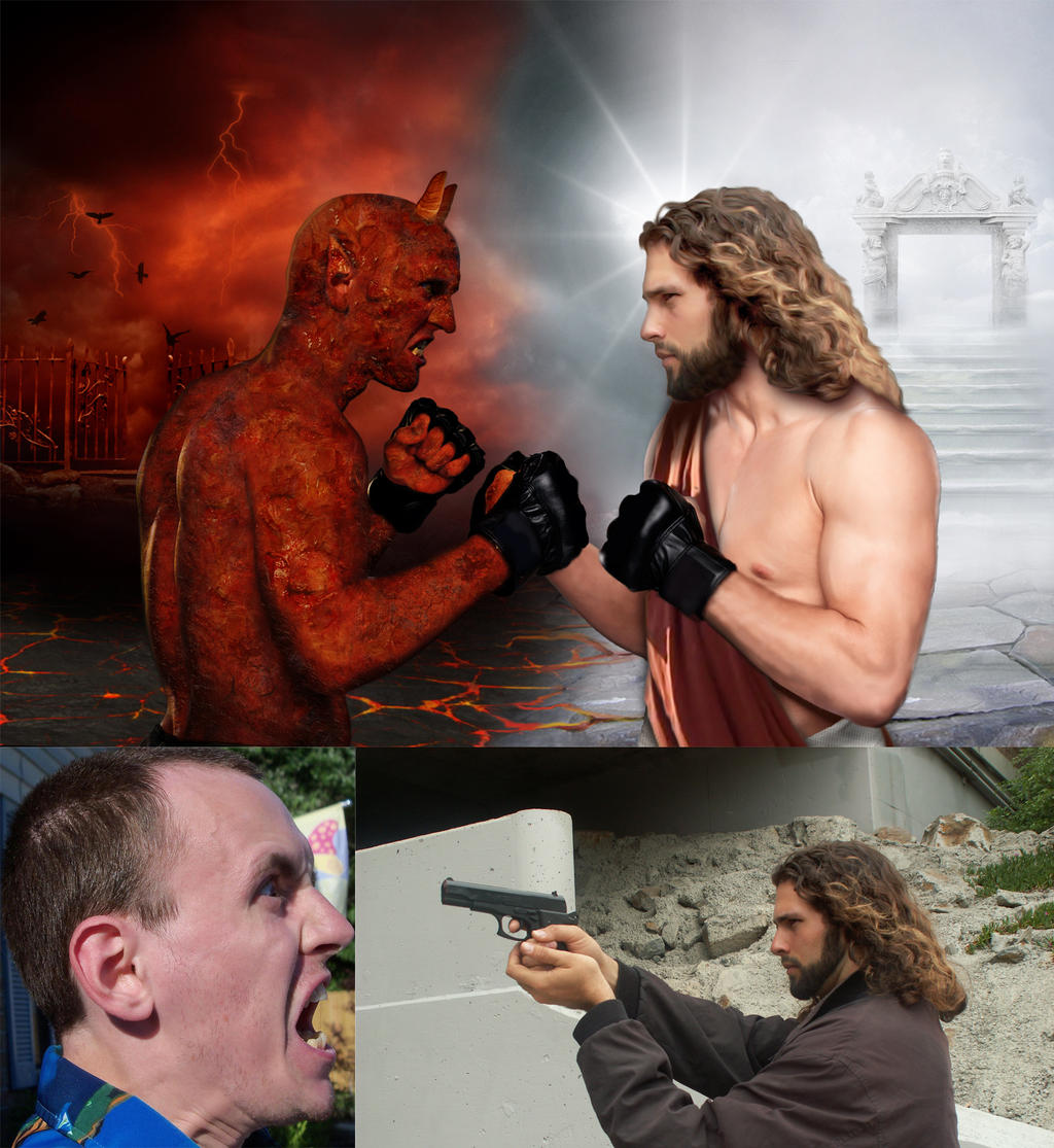 Satan Vs God Wallpaper God vs devil wallpaper god vs