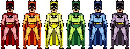 Batman (Rainbow) by mikesterman3000